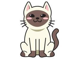 cute cat or kitten Animal meow cartoon fluffy pets exact vector collection Illustration cartoon meow cat