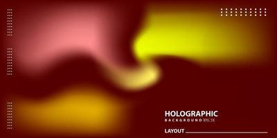 Fondo de holograma degradado moderno abstracto vector