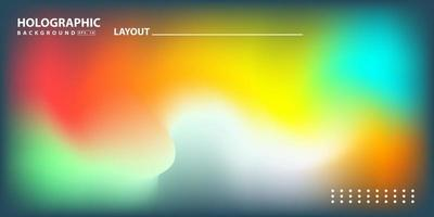 Abstract Modern gradient Hologram Background vector