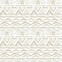 Beige detailed horizontal Seamless repeat pattern with random twisted part of triangles or broken line shapes on white background vector