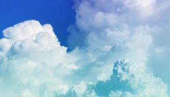 Bright sky and beautiful clouds photo