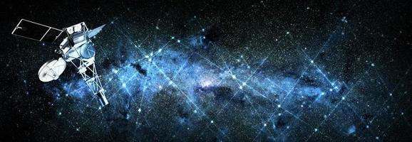 satélite en el espacio elementos de fondo de esta imagen proporcionada por la nasa foto