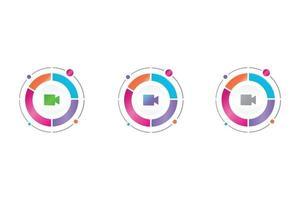 video icon in circle diagram vector