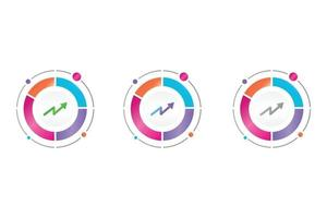 business graph icon in circle diagram vector