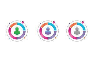 administrator icon in circle diagram vector
