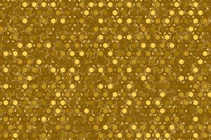 Abstract gold geometric seamless pattern design modern luxury background with golden circle overlapping vector