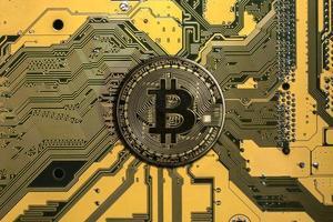 Crypto currency bitcoin photo