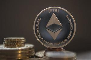 Crypto currency ethereum wallpaper photo