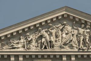 relief on the pediment of the Lviv opera photo