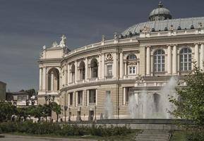 Odessa Opera theatre old city architecture wallpaper photo