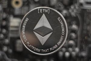 Crypto currency ethereum chain photo