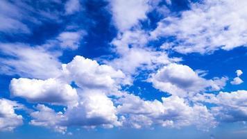 blue sky with cloud closeup photo