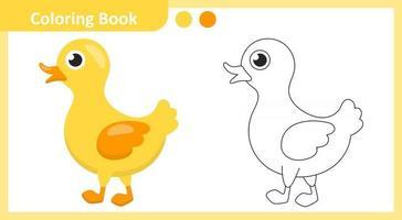 Coloring Book Duck vector