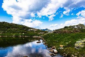 Lake and mountains at daytime photo