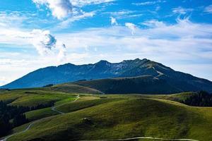 Road through mountains photo