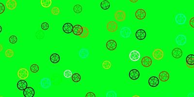 Light Multicolor vector backdrop with mystery symbols