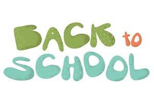 Back to School Creative lettering design vector