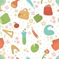 Back to school seamless pattern vector