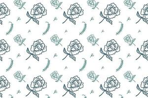 vector plant pattern floral seamless pattern