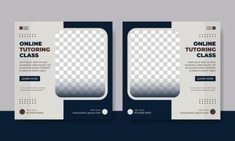 Flyer or social media post template education themed vector