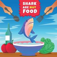 Shark Protection Poster vector