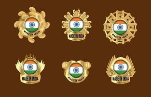 Made in India Badges vector