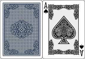 vintage design ace spades playing card vector