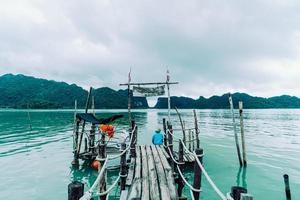 Talet bay en khanom nakhon sri thammarat tailandia foto