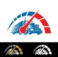 Truck Speed Vector Sign