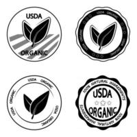 USDA organic rubber stamps vector