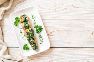 Chicken breasts stuffed with spinach and cheese photo