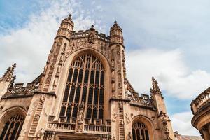 La iglesia de la abadía de San Pedro y San Pablo, comúnmente conocida como Bath Abbey Somerset, Inglaterra foto