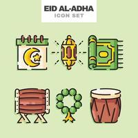 Eid Al Adha Icon Set vector