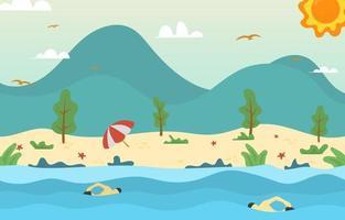 Summer Beach Activity vector