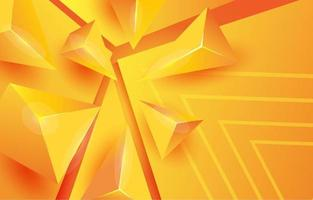 yellow abstract triangle gradient background vector