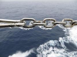 cadena de hielo en el océano austral foto