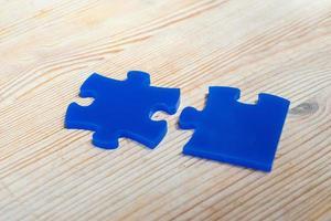 Jigsaw puzzle business concept photo