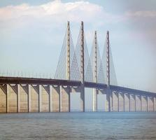 Oresund Bridge between Denmark and Sweden photo