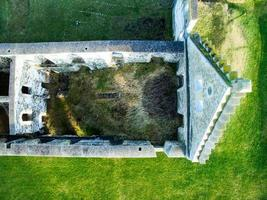 Roofless castle from above photo