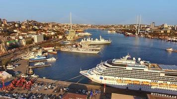 Aerial view of the city landscape  Vladivostok  Russia photo
