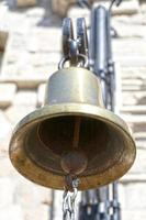Copper bell close up on a blurry background photo