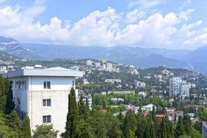 Urban landscape with views of buildings and mountains Yalta photo