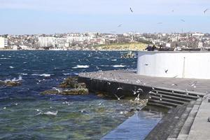 Seascape with a view of the embankment of Sevastopol Crimea photo