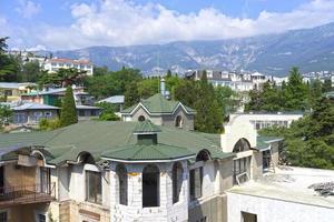 Urban landscape with views of buildings Yalta Crimea photo