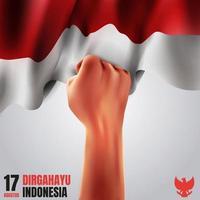 Dirgahayu Indonesia Concept vector