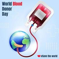 World Blood Donor Day Concept vector