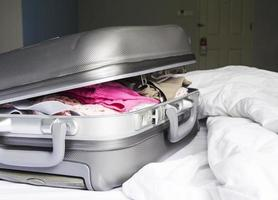 Luggage on the bed photo