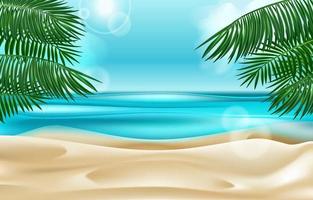 Summer Scene at the Beach vector