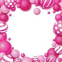 Beauty Pink Balloon Decoration vector