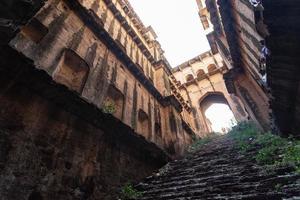 Step Well in Bawdi, near Neemrana Fort, Rajasthan, India photo